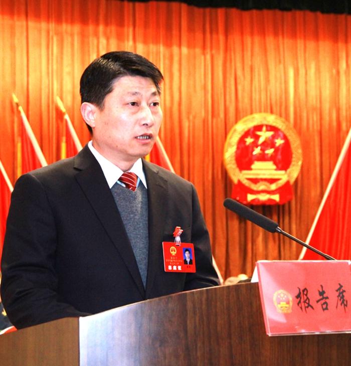 县长霍辉作政府工作报告